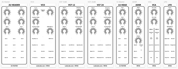 All 5U panels side-by-side