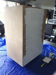 Painting the back with primer